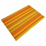 Matéria têxtil Tabletop Placemat das listras para a HOME & o restaurante