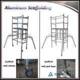 새로운 디자인 알루미늄 비계 이동할 수 있는 비계 탑 Foldable 비계