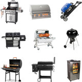 Stufa di gas esterna del barbecue con la griglia ed il forno