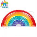 虹の膨脹可能なマット水浮く物の水泳のリングの浮遊物のプールのおもちゃ