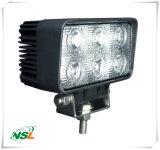 18W luz campo a través del trabajo del LED de luz LED de conducción de tractores, 4 * 4 en el terreno de las luces, vehículos todo terreno, excavadoras, etc. Equipo Pesado NSL-1806A-SP-18W