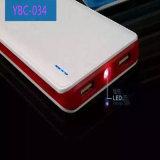 Nueva batería de cuero portable 6000mAh de la potencia para los teléfonos elegantes 2 accesos del USB