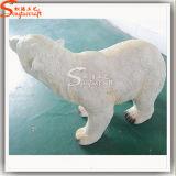 Sculpture artificielle en ours de fibre de verre pour la décoration