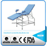 Einfaches Edelstahl Gyneacological Prüfungs-Bett