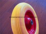 편평한 자유로운 외바퀴 손수레 타이어 PU 거품 타이어 4.00-8 폴리우레탄 거품 바퀴