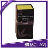 Popular brillante rígido del regalo del papel de embalaje de la piel Cuidado Box Set