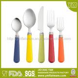 Couverts en plastique créateurs de traitement réglés/vaisselle plate acier inoxydable réglé/de vaisselle plate
