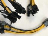 6X PCI-E 6Pinへの2X 8 (6+2) GPU鉱山Zec、Btc、EthのためのPin VGAのディバイダーケーブル