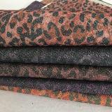 Cuoio stampato più nuovo leopardo per le borse, pattini (E6057)