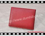 Suporte de cartão de couro vermelho do crédito do plutônio de Taiga com logotipo quente do selo