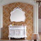 أبيض دهانة [سليد ووود] مسيكة غرفة حمّام تفاهة خزانة ([غسب14-007])