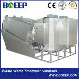 De kleine Pers van de Filter van de Modder van de Schroef van de Voetafdruk SUS304 voor Gemeentelijk Afvalwater