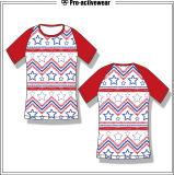 Frauen-überstürzte Schutz-Kurzschluss-Nylonhülsen-kundenspezifisches Komprimierung-Hemd