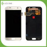 Écran tactile LCD de rechange pour la couleur d'or de Samsung S7 avec le bâti