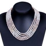 優雅で贅沢な結婚式の広い淡水の真珠のネックレス