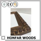 Bâti en bois noir carré de photo de métier