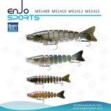 Richiamo poco profondo congiunto selezionato di pesca dell'attrezzatura di pesca di pesca del pescatore multi dell'esca bassa realistica di richiamo (MS1413)