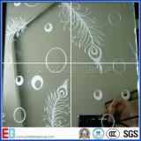 Bessere Preis-dekorative Säure geätztes bereiftes Kunst-Architekturglasbadezimmer-Glas