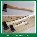 Головка оси стали углерода оси с деревянной ручкой