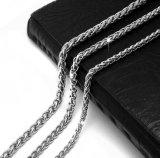 Couleur argentée en acier titanique de collier de chaîne de serpent de bijou de mode