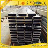 Pipe en aluminium d'aluminium de tube de Retangular anodisée 6063 par T5