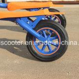 3車輪のFoldableブラシレスモーターShanding-upの電気漂うスクーターの青二才