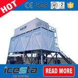 Planta de gelo Containerized do floco para a fábrica concreta refrigerar e de gelo