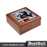 Rectángulo de joyería de madera embaldosado de cerámica de Sublimatable (SPH44BR)