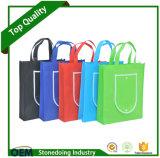 Bolsa de compras dobrável reutilizável com 90GSM promocional com facotry