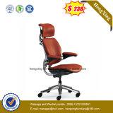$68 높은 뒤 사무용 가구 빨간 가죽 인간 환경 공학 의자 (NS-BR002)