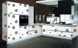 光沢のある防水アクリルの台所食器棚