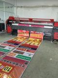 impressora ao ar livre interna de anúncio solvente principal de /Vinyl /Sticker da bandeira do cabo flexível da máquina de impressão de 3.2m 126inch 4PCS 512I Konica