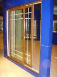 La laminazione della quercia ha colorato la finestra scorrevole del vinile di 80 serie un profilo del portello per la finestra ed il portello di plastica