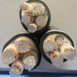 Cabo distribuidor de corrente blindado isolado PVC de cobre da fita de aço do condutor