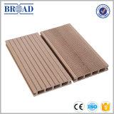 Decking extérieur composé en plastique en bois favorable à l'environnement