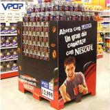 월마트 슈퍼마켓 병 커피를 위한 물결 모양 깔판 전시
