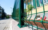 Cerca revestida del acoplamiento de la seguridad del PVC del marco del metal para el jardín (XMM-WM6)