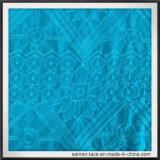 Toque do laço do bordado de rayon bom que sente o laço geométrico do bordado