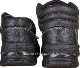 Half In reliëf gemaakt Leer + half de Schoenen van het Werk van de Veiligheid van Pu met Hoge Enkel en Lage Enkel