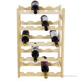 Cremagliera di visualizzazione di legno di immagazzinamento in la bottiglia di vino della mobilia pratica nella casa