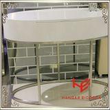 Tabela moderna do lado da tabela de chá da tabela de console da mesa de centro da tabela da mobília do hotel da mobília da HOME da mobília do aço inoxidável da mobília da tabela de limpeza (RS161701)