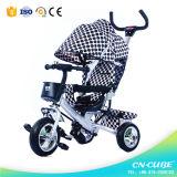 طفلة مزح درّاجة ثلاثية درّاجة ثلاثية الماشي بخطى متثاقلة درّاجة ثلاثية مع دفع قضيب