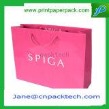Sacos de portador de papel impressos personalizados para o empacotamento do presente