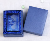 cubo di cristallo del cigno dell'incisione del laser 3D per la decorazione di cristallo del mestiere