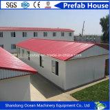 Casa pré-fabricada do conjunto rápido barato do preço do material de construção da construção de aço para o acampamento de refugiado