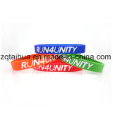 O OEM de Fashionale do fulgor do silicone ostenta o Wristband