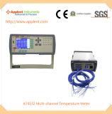 Registador de dados quente da temperatura do produto com exatidão 0.2%+1c (AT4532)