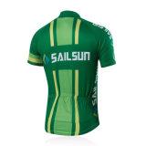 T-shirt promotionnel de polo de combinaison de couleur de sublimation faite sur commande (A007)