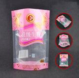 Customzied Transperant는 3개의 층이 지퍼를 가진 음식 포장을%s 강직한 비닐 봉투를 박판으로 만든 Zip 자물쇠 주머니 매트를 위로 서 있다