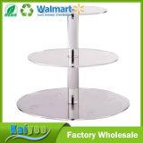 soporte de acrílico de la torta del soporte del postre o de la magdalena de la dimensión de una variable circular 4-Tier